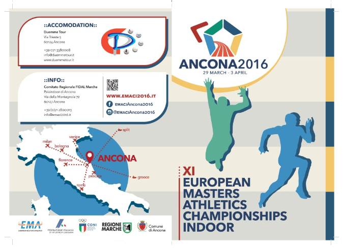 EK Indoor Ancona Italië - 29 Maart - 3 April 2016