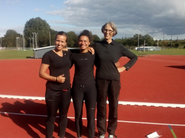Nederlands record vijfkamp Eefje Swinkels, Weia Reinboud en Ko Florusse
