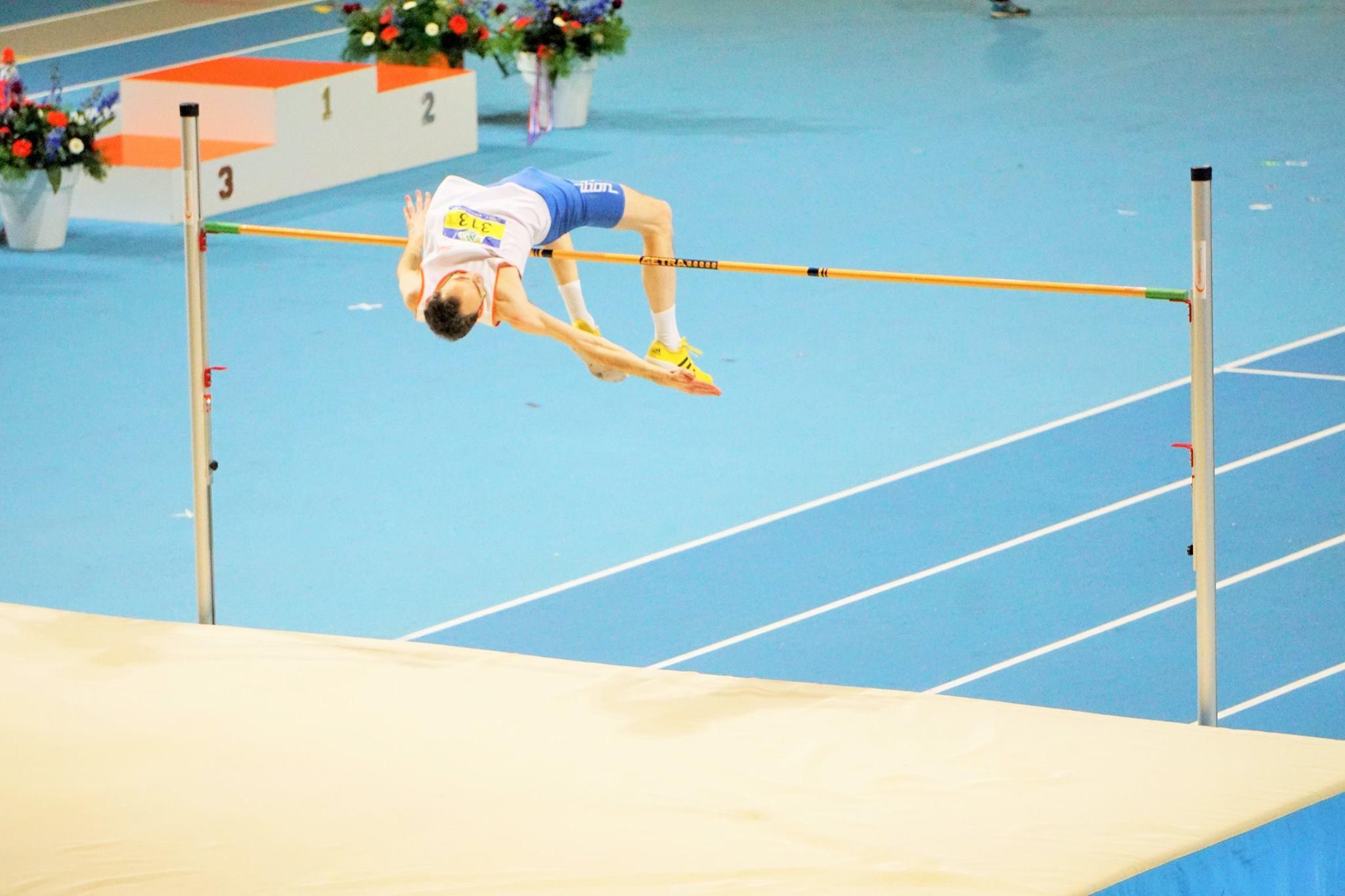 Jan Peter Larsen werd voor de 7e keer in z'n sportieve carrière Nederlands Kampioen hoogspringen