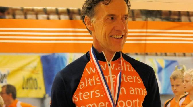 Marcel Scholten tijdens WK Indoor Portland